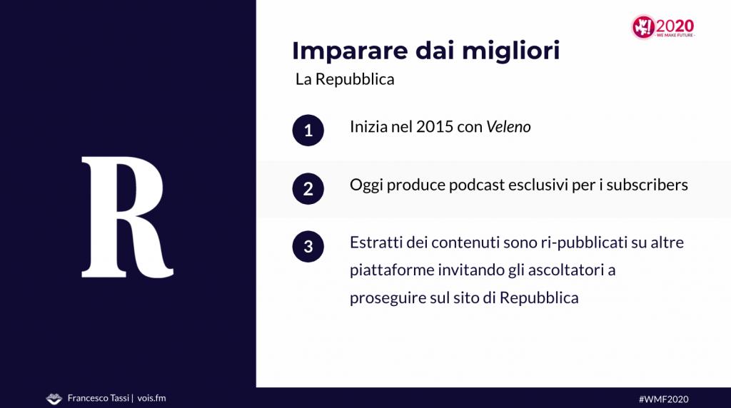 La Repubblica podcast