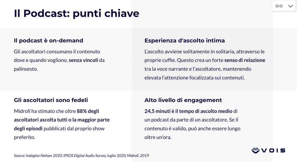 dieci punti chiave branded podcast