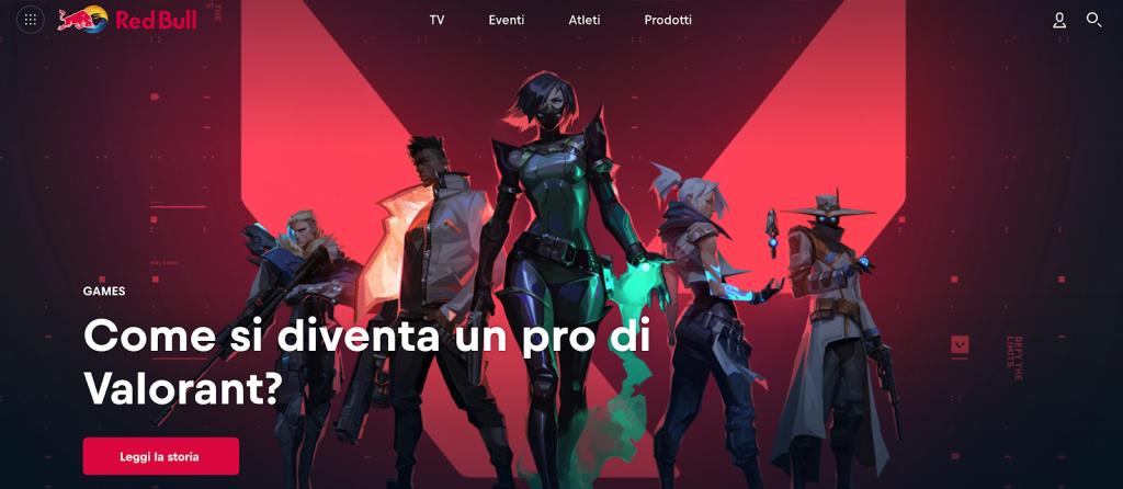 sito di Red Bull branded content