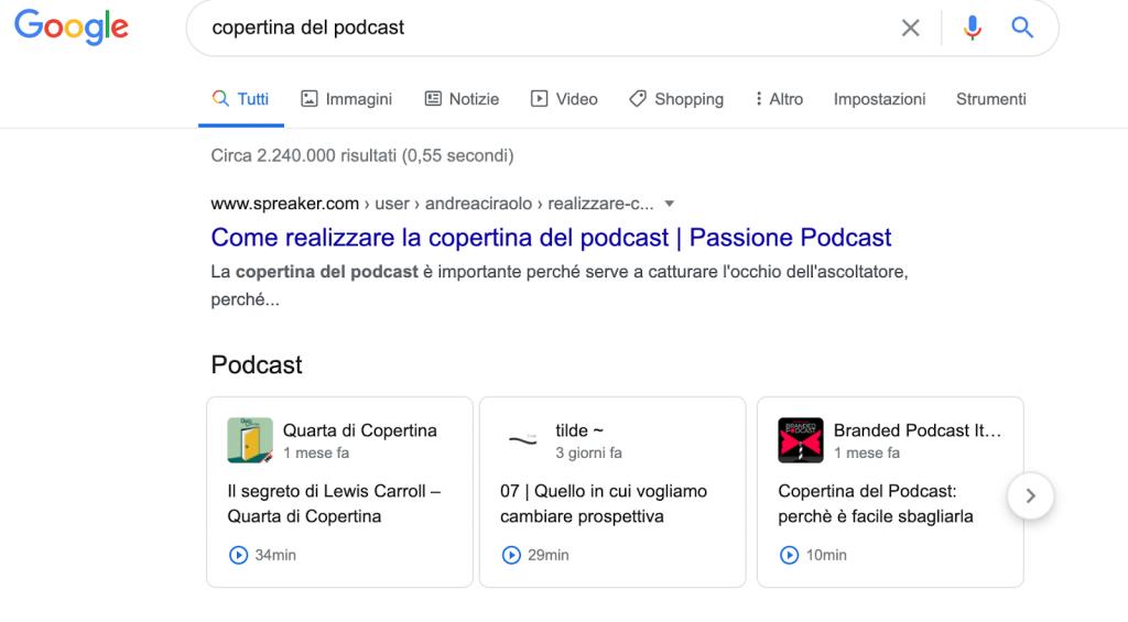 esempi titolo podcast